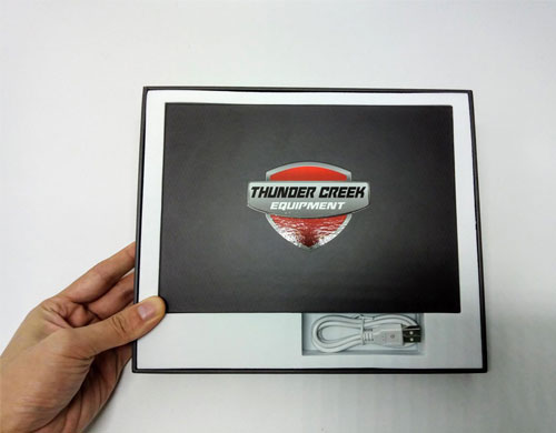A5-inch hardcover video brochure in presentation case