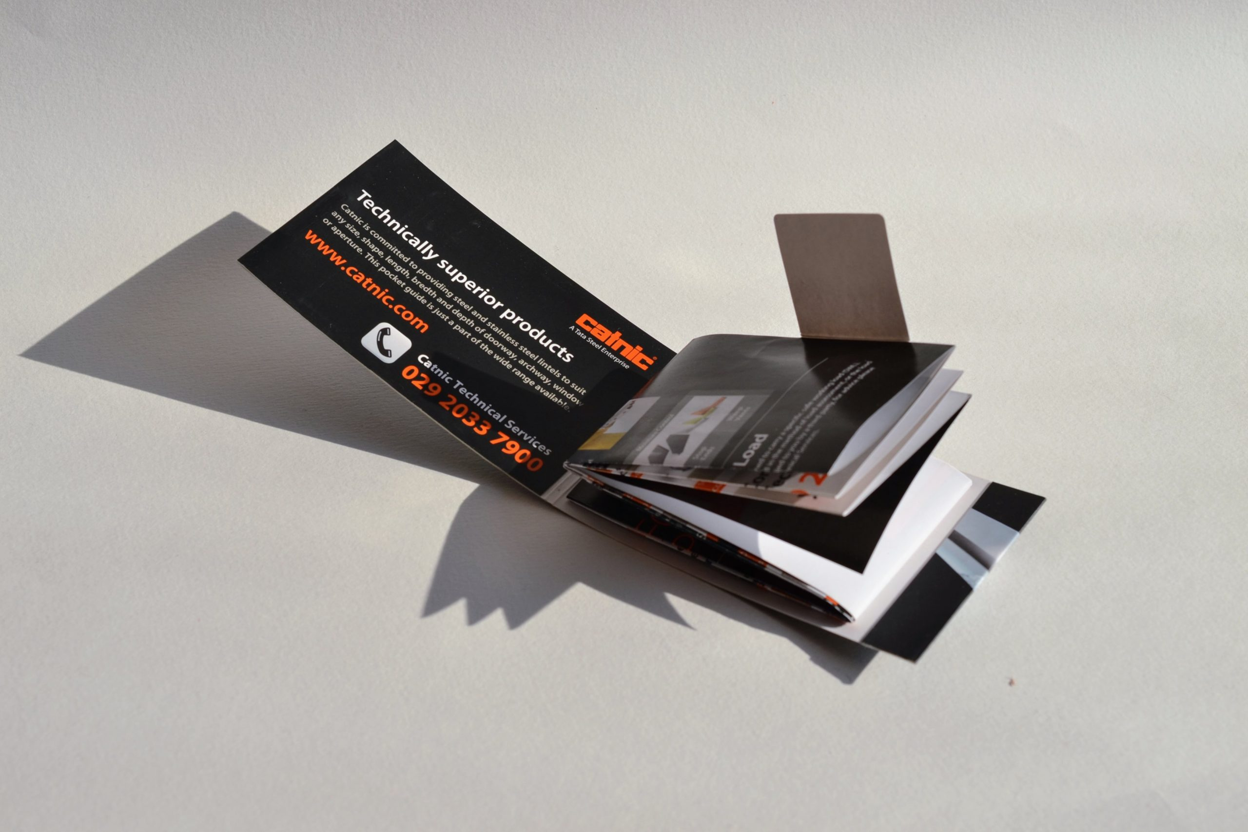 unfolding mag card pop-out page