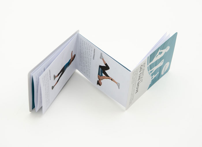 opening view of z-folded leaflet