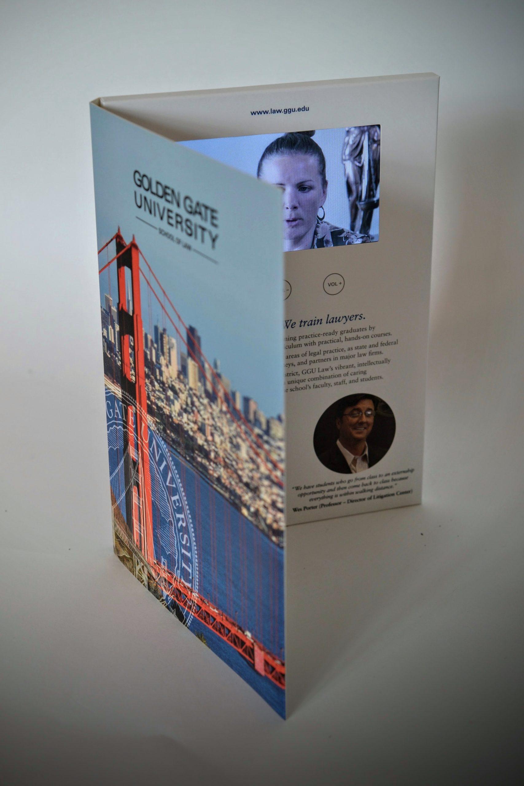 portrait video brochure 4.3-inch screen