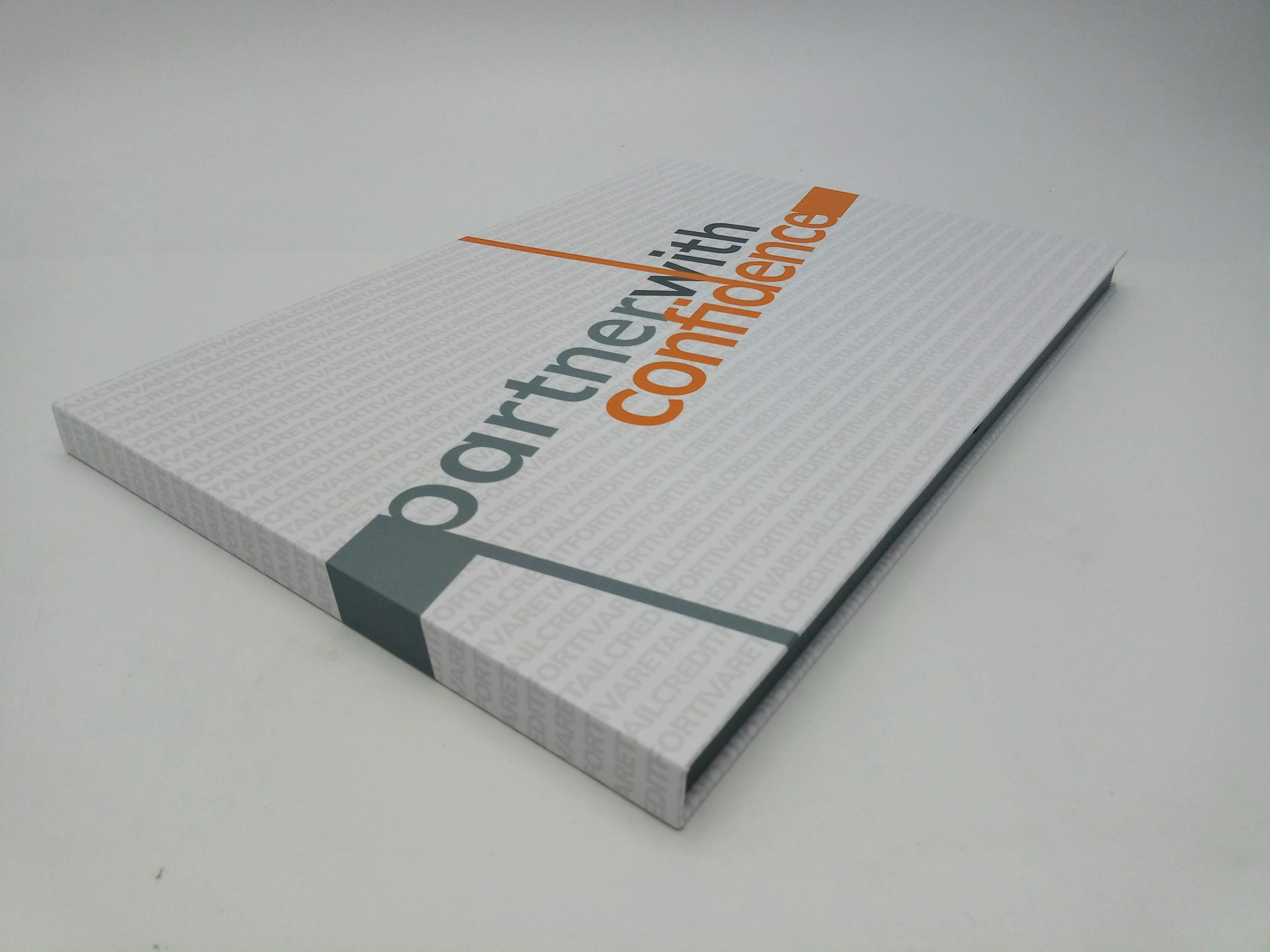 10-inch hardcover video brochure cover view